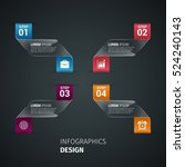 infographics design dark...