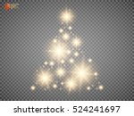 christmas tree made  golden... | Shutterstock .eps vector #524241697