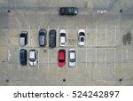 empty parking lots  aerial view.   Shutterstock . vector #524242897