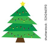 christmas tree | Shutterstock .eps vector #524246593