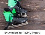 overhead view of hockey ice... | Shutterstock . vector #524249893