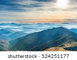 blue mountains and hills over... | Shutterstock . vector #524251177