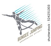 bungee jumping. sport emblem | Shutterstock .eps vector #524251303