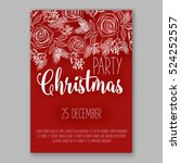 christmas party invitation with ... | Shutterstock .eps vector #524252557