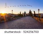 prague  czech republic. charles ... | Shutterstock . vector #524256703