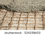 construction of a cement screed | Shutterstock . vector #524258653