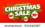 christmas sale banner | Shutterstock .eps vector #524260387