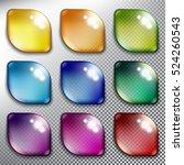 abstract vector web buttons set ... | Shutterstock .eps vector #524260543