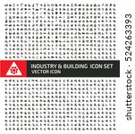 industry and building icon set... | Shutterstock .eps vector #524263393
