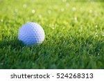 golf ball on grass green and... | Shutterstock . vector #524268313