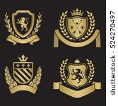 coats of arms   shields with... | Shutterstock .eps vector #524270497