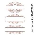 set decorative frames .vintage...   Shutterstock .eps vector #524272033