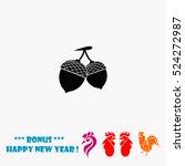 acorn vector icon   Shutterstock .eps vector #524272987