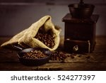 Coffee Grinder On Table