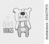 cute teddy bear cartoon  t... | Shutterstock .eps vector #524277973