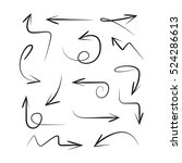 hand drawn and scribble arrows | Shutterstock .eps vector #524286613