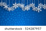 christmas background with big... | Shutterstock . vector #524287957