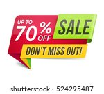don't miss out sale  70  off ... | Shutterstock .eps vector #524295487
