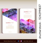 abstract geometric business... | Shutterstock .eps vector #524299837