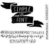 hand drawn font made by dry... | Shutterstock .eps vector #524302297