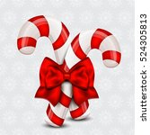 christmas candy cane on a... | Shutterstock .eps vector #524305813