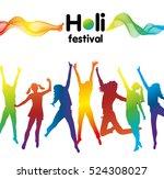 holi festival poster with... | Shutterstock .eps vector #524308027