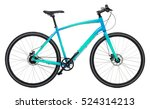 new blue bicycle isolated on a... | Shutterstock . vector #524314213