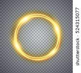 magic gold circle light effect. ... | Shutterstock .eps vector #524315077