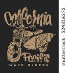 motorcycle surfboard...   Shutterstock .eps vector #524316373
