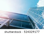 windows of skyscraper business... | Shutterstock . vector #524329177