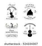 Music Vintage Retro Label And...