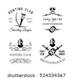 history club logo. fight club... | Shutterstock .eps vector #524334367