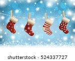 Christmas Stocking On Winter...