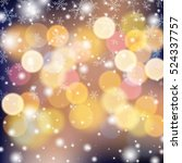 snowflake on colorful... | Shutterstock .eps vector #524337757