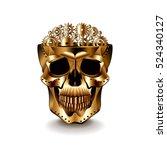 steampunk human skull isolated... | Shutterstock .eps vector #524340127