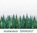 winter forest christmas trees | Shutterstock .eps vector #524341417