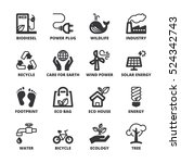 set of black flat symbols about ... | Shutterstock .eps vector #524342743