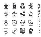 set of black flat symbols about ... | Shutterstock .eps vector #524342767