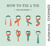 instructions on how to tie a... | Shutterstock .eps vector #524344603