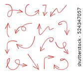vector hand drawn arrows | Shutterstock .eps vector #524347057