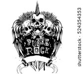 vector illustration three punk...