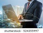 double exposure of a... | Shutterstock . vector #524355997