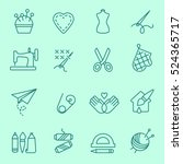 handmade icon  thin line  flat... | Shutterstock .eps vector #524365717