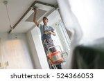 construction worker wearing... | Shutterstock . vector #524366053