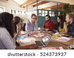 female manager leads... | Shutterstock . vector #524373937