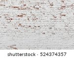 red white wall background. old... | Shutterstock . vector #524374357