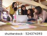 female designers having...   Shutterstock . vector #524374393