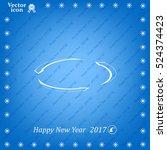 circular arrows vector icon | Shutterstock .eps vector #524374423