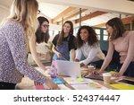 female designers having... | Shutterstock . vector #524374447
