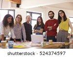 portrait of design team in... | Shutterstock . vector #524374597